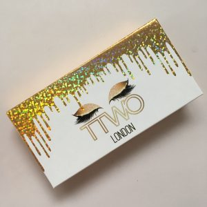 gold dropping Eyelash Packaging